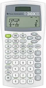 Texas Instruments TI-30XIIS Scientific Calculator, White