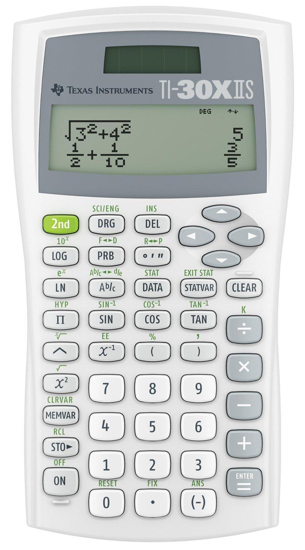 Texas Instruments TI30XIISWHITE 2-Line Scientific Calculator