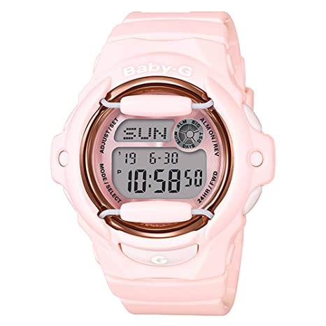13415219afc9 Casio Baby-G Face Protector Baby Pink Rose Tone Watch Digital BG169G-4B