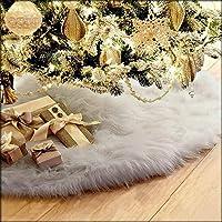 75cm Christmas Plush Long Haired Christmas Tree Skirt Christmas Home Decor GY
