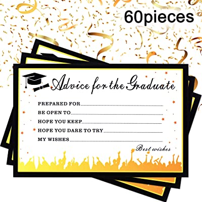 meekoo 60 Pieces 2020 Advice Cards for Graduates Graduation Party Supplies Graduation Gift Card for Graduate Class of 2020, Graduation Party Games Activities Invitations Decorations Supplies: Toys & Games