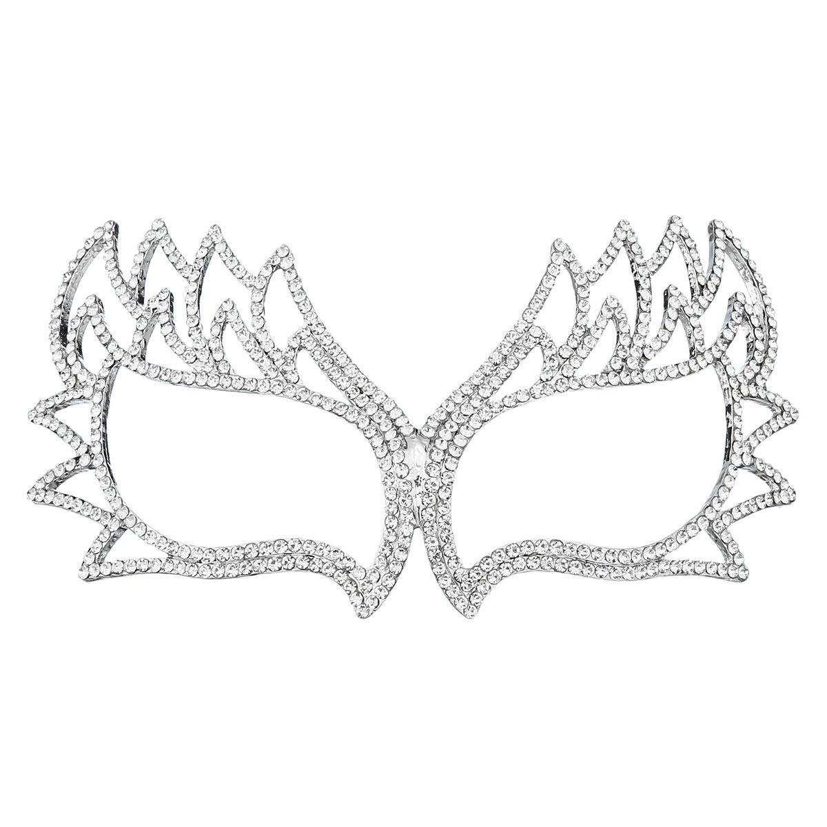 Miallo Bridal Full Rhinestone Crystal Fancy Masquerade Eye Mask for Halloween (Style2#)