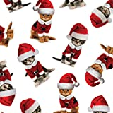 """Kitty Christmas Wrapping Paper Roll 24"""" X 15'"""