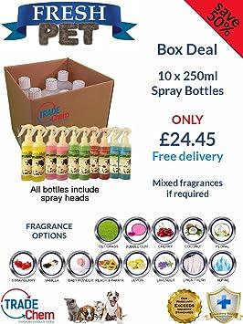 10 unidades dulce mascotas 250 ml spray caja Deal - Caseta/cattery desinfectante y ambientador fragancia - diferentes: Amazon.es: Productos para mascotas