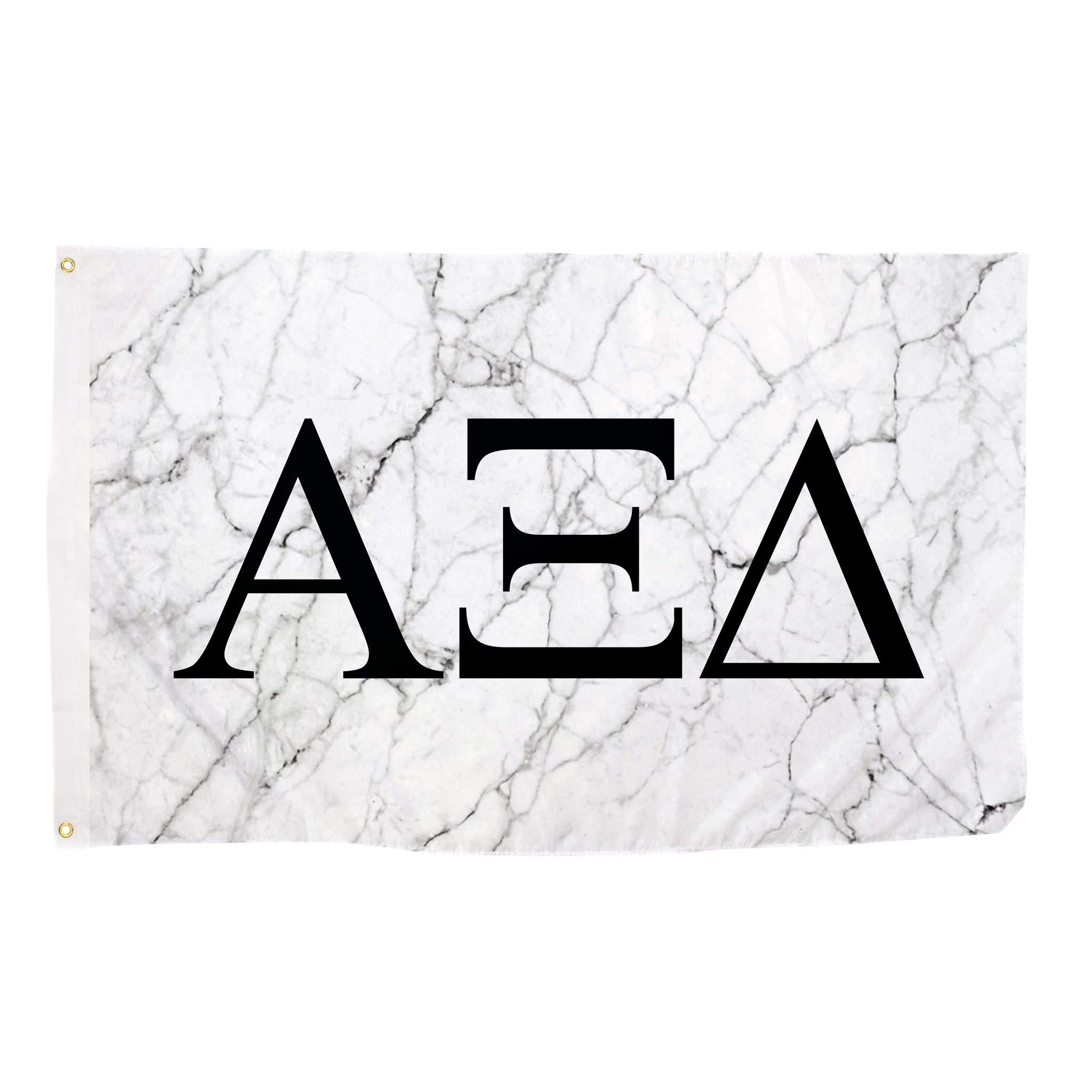 Alpha Xi Delta Light Marble Sorority Letter Flag Banner 3 x 5 Sign Decor alpha zee