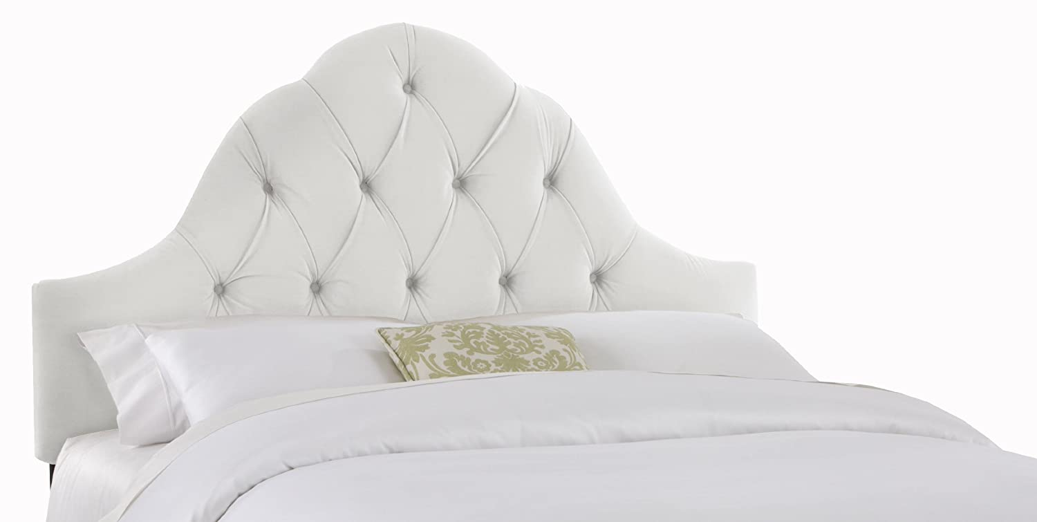 an king homes white sheet tufted padded size better bed upholstered make loccie headboard