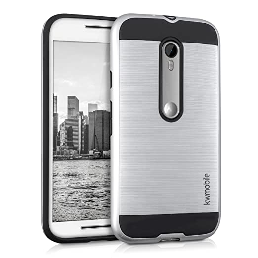 10 opinioni per kwmobile Custodia ibrida per Motorola Moto G (3. Generation) Design brushed-