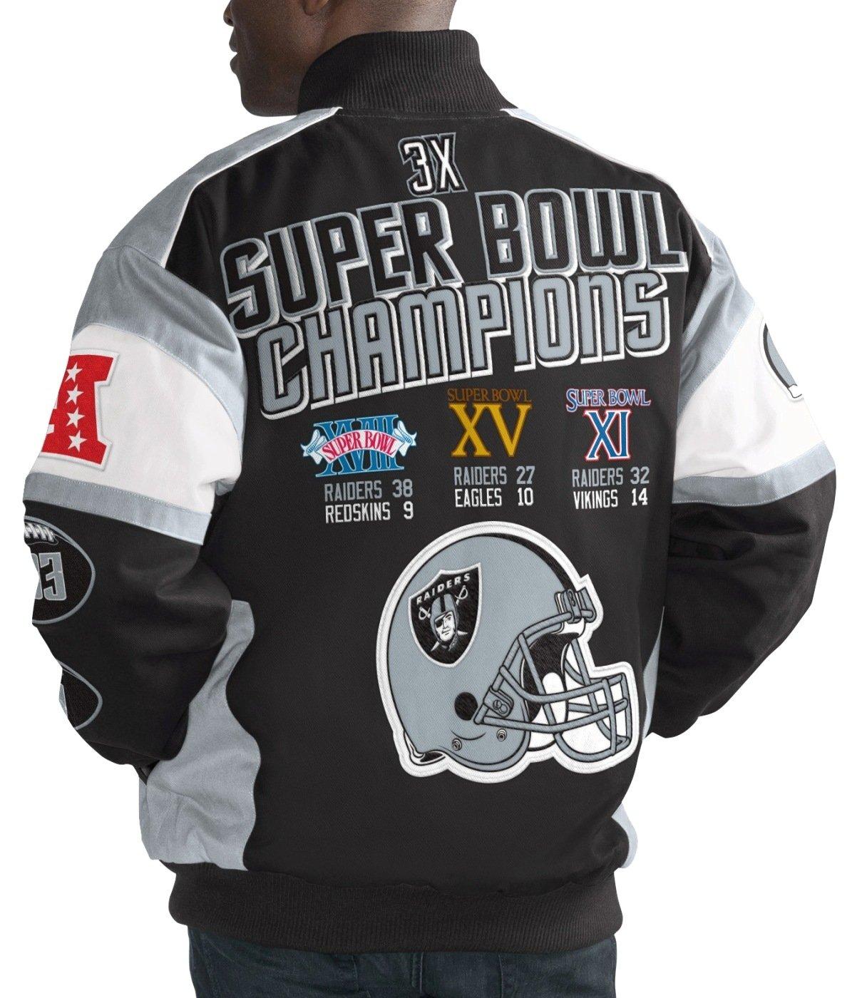 Oakland Raiders NFL G-III Super Bowl Cotton Twill Commemorative Jacket