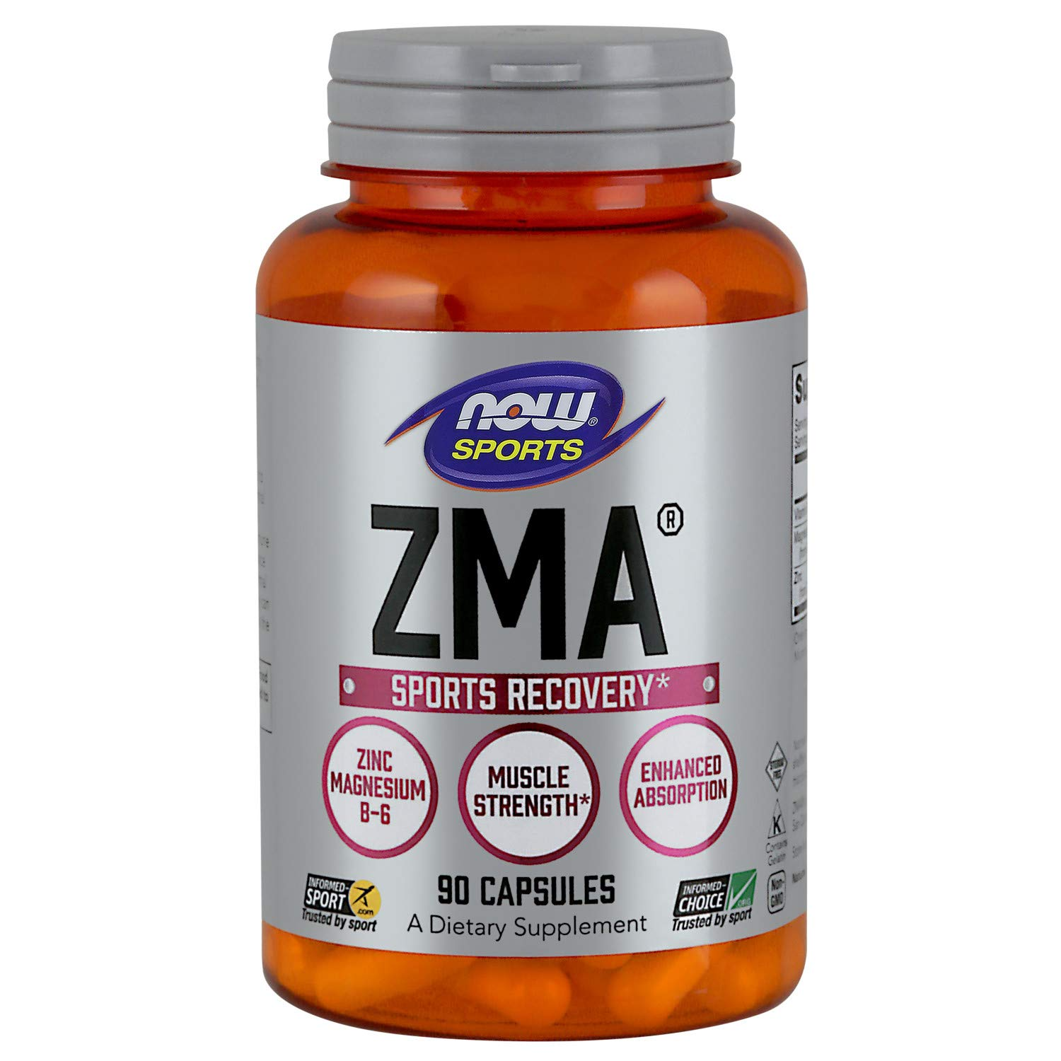 NOW Sports Nutrition, ZMA (Zinc, Magnesium and Vitamin B-6), 90 Capsules