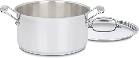 Cuisinart 744-24 Chef s Classic Stainless Stockpot with Cover, 6-Quart