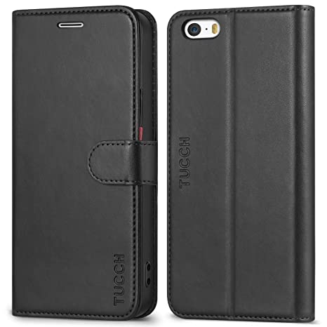 TUCCH Funda iPhone SE, Funda iPhone 5s / 5, Funda Piel Resitstente, [