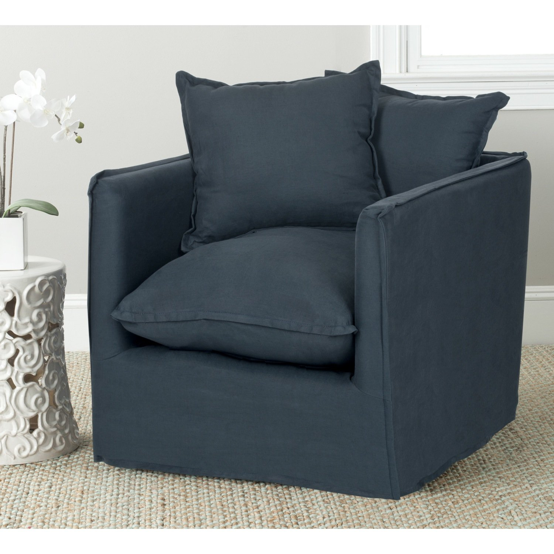 Amazon.com: Safavieh Mercer Collection Joey Arm Chair, Blue: Kitchen U0026  Dining