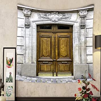 Amazon Keshia Dwete Custom Tapestry Old Wooden Arch Entry Door