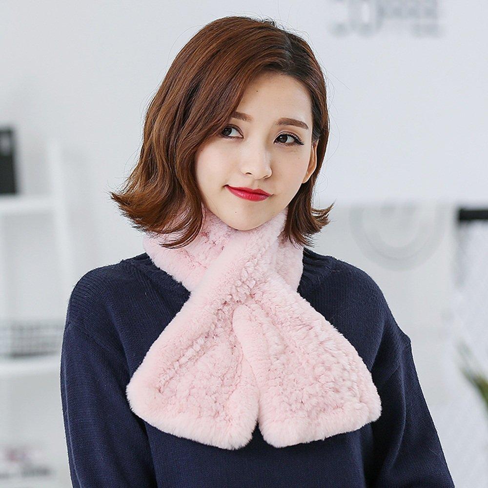 HAIZHEN alla moda alla moda Sciarpa inverno caldo nuova sciarpa uomini e donne grigio bianco beige nero rosa Morbido e caldo ( Colore : Rosa )