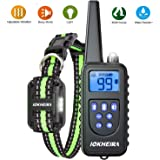 IOKHEIRA Dog Training Collar with Remote 2600Ft Range, Rechargeable No Shock Dog Training Collar with Beep and Vibration…