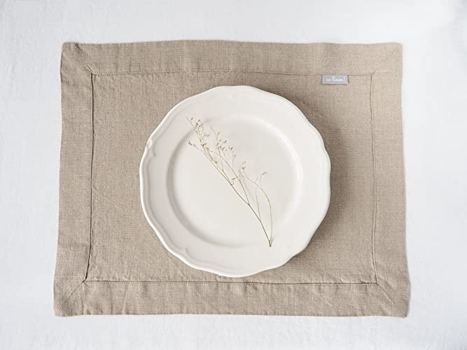 amazon com linen placemats set of 2 fabric placemats natural