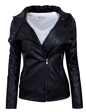Tom's Ware Women's Fashionable Asymmetrical Zip-up Faux Leather ...