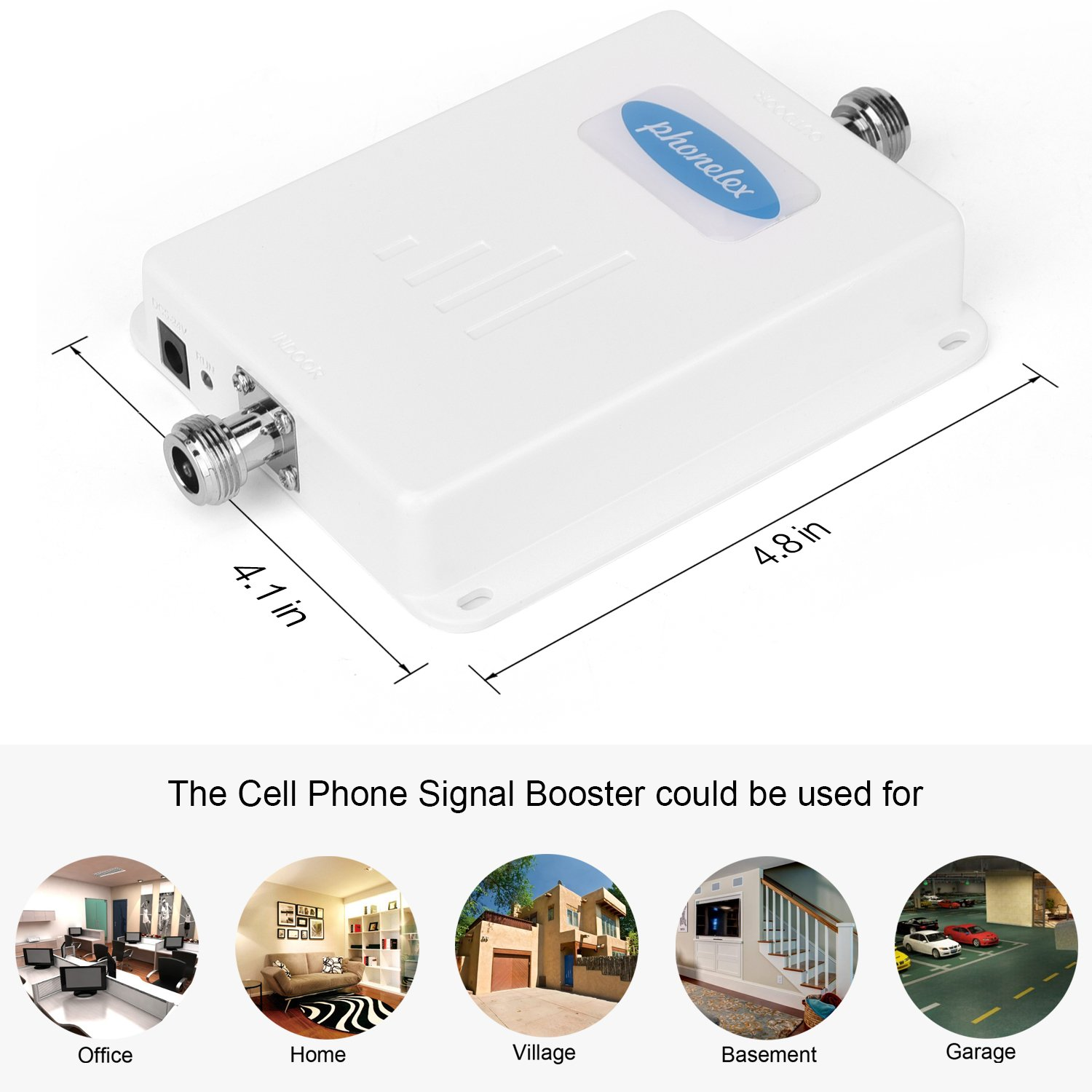 Phonelex Cell Phone Signal Booster AT&T T-Mobile 4G LTE Band12/17 700Mhz 70dB Cell Phone Signal Amplifier Mobile Signal Booster Repeater with Indoor Ceiling / Outdoor YaGi Directional Antenna For Home by phonelex (Image #3)