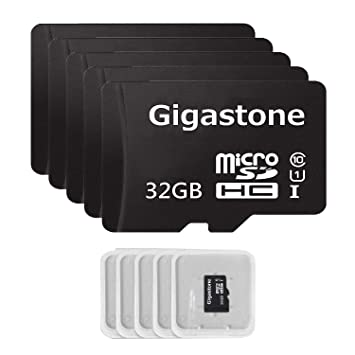 Gigastone Micro SD Card 32GB 5-Pack Micro SDHC U1 C10 High Speed Memory Card Class10 Uhs Full HD Video Nintendo Gopro Camera Samsung Canon Nikon DJI ...