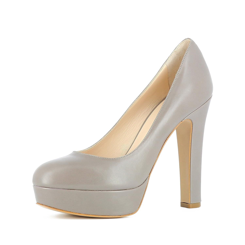 Evita Shoes Riccarda - Zapatos de vestir de Piel para mujer 40|marrón