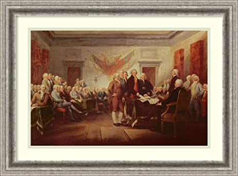 Amazon.com: Framed Art Print \'Signing the Declaration of ...