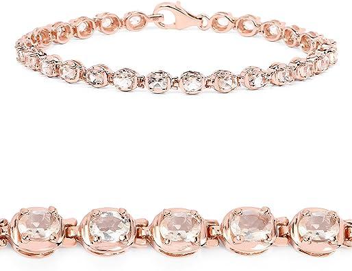 7inch Love Double Heart Pink Sapphire Austrian Crystal  Tennis Bracelet