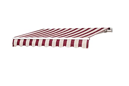 check out ed6b8 20bc9 Sunjoy 8′ x 10′ Beauty-Mark Manual Retractable Awning - Red Stripe