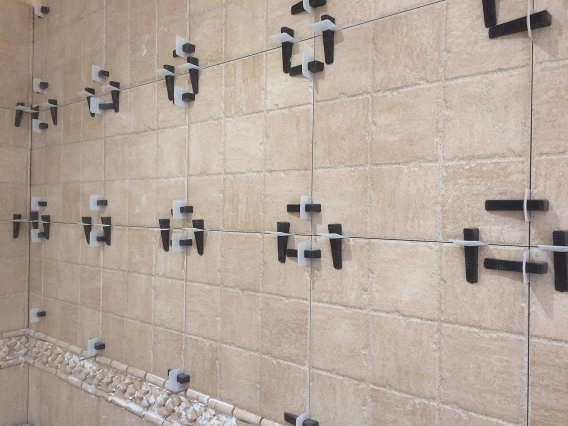 peygran azulejos de nivelaci/ón sistema de 100/cu/ñas lippage libre para azulejos y piedra instalaci/ón para Pro y DIY La m/ás preciso y fiable producto en el mercado. negro piezas