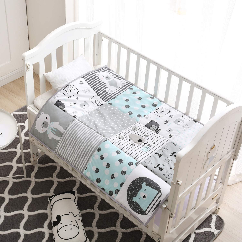 Winthome - Colcha para bebé, manta para bebé, edredón suave para cuna para niños y niñas, algodón puro
