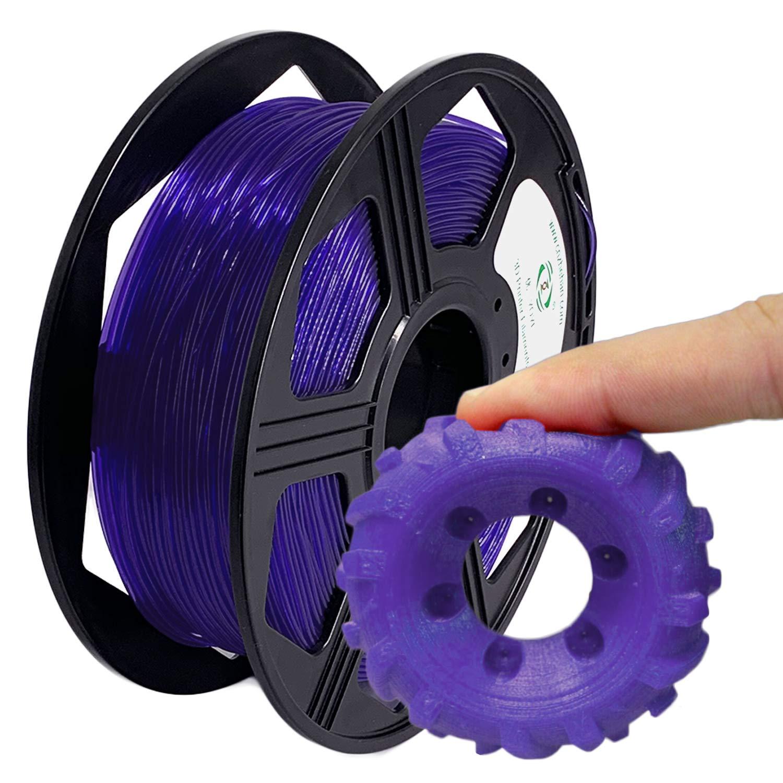 A-Black 100/% Europa Materia prima YOYI TPU Filamento de impresora 3D filamento flexible de TPU 1.75 mm 0.8 kg Precisi/¨/®n dimensional del carrete +//- 0.03 mm