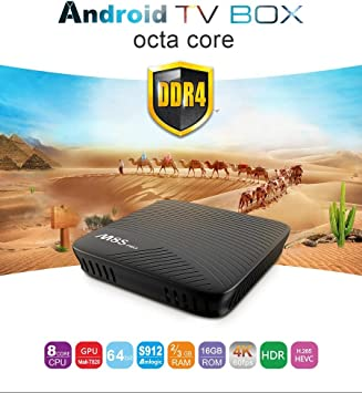 MECOOL M8S PRO TV Box 3GB DDR4 RAM 32GB eMMC Amlogic Octa Core S912 Android 7.1 4K Movies Smart TV Media Player HDR10 802.11AC Dual Band WIFI LAN Bluetooth H.265: Amazon.es: Electrónica