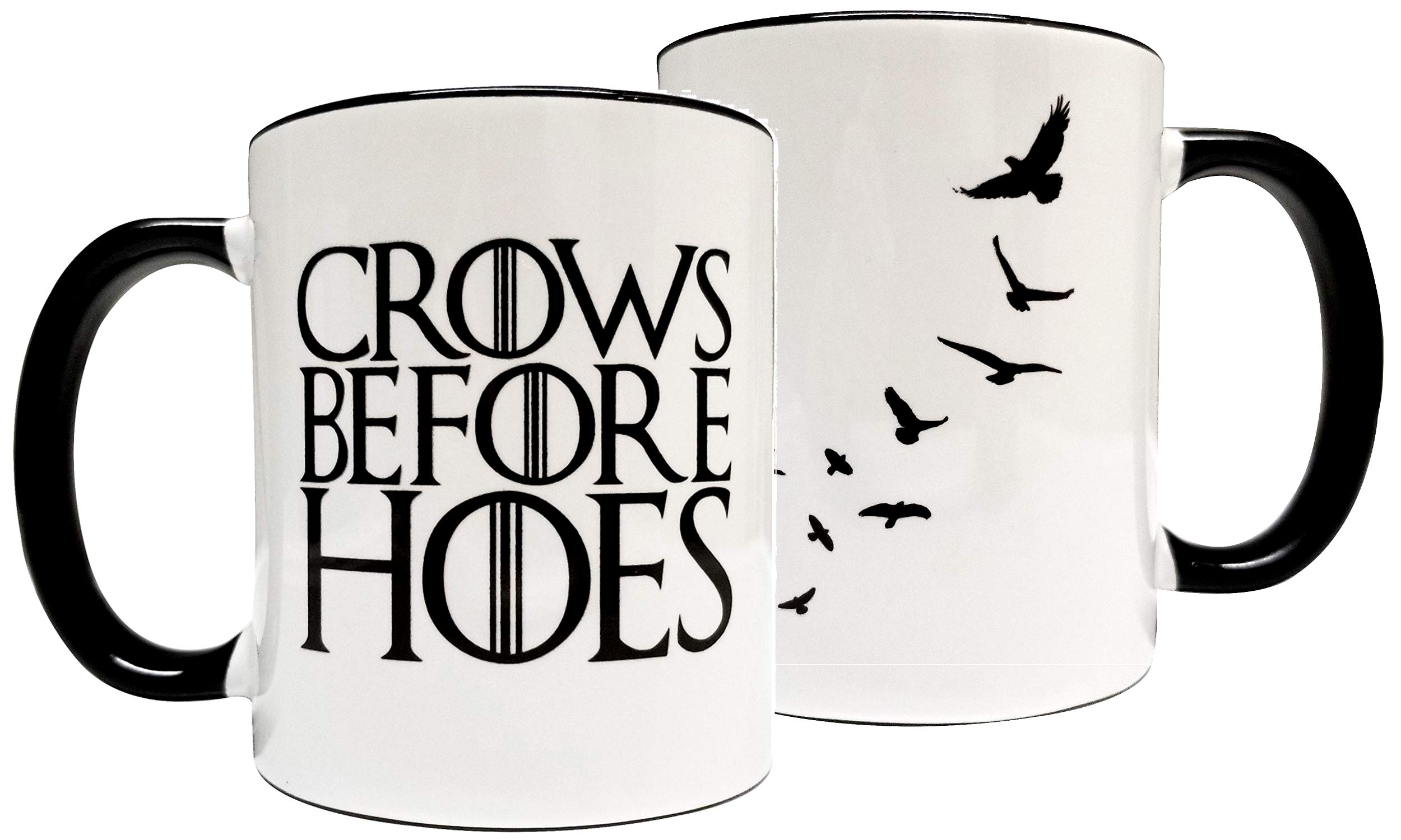 Crows before Hoes 11oz Grade A Quality Ceramic Mug/Cup - Inspired by Game of Thrones The Nights Watch - Foam Box