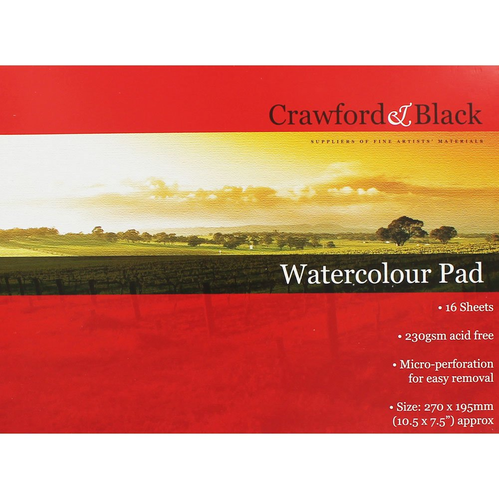Watercolour Pad Crawford and Black