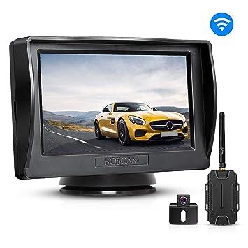 BOSCAM K1 Juego de cámara de marcha atrás y monitor inalámbricos, con pantalla LCD de