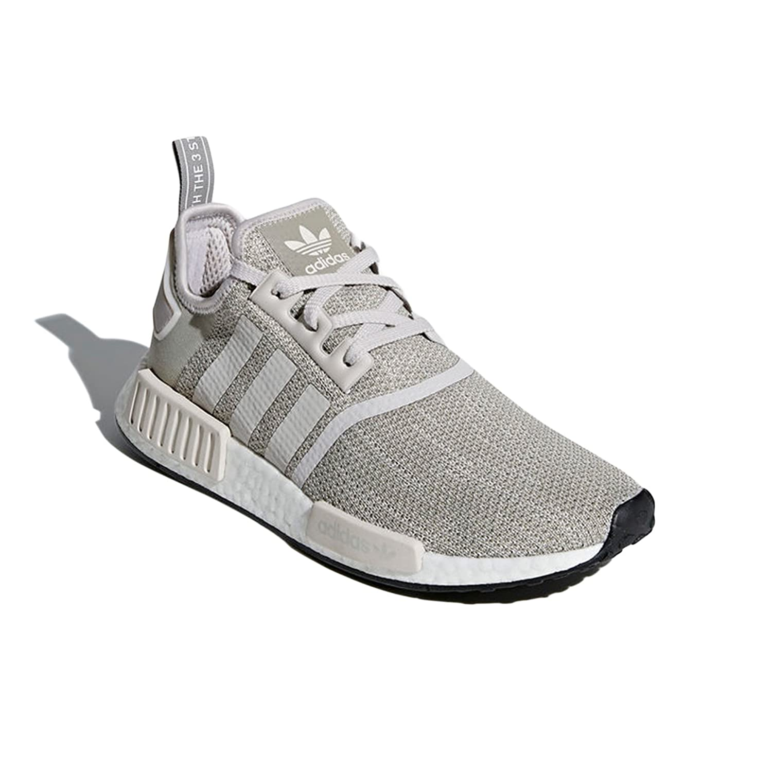adidas NMD_ R1 BY9951, B79758 Chaussures Homme Noir Sneaker tecnologia Boost, Low-Top (43 1/3 EU, White/Grey Two/Ftwr White)