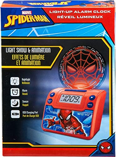 eKids – Marvel Spider-Man Alarm Clock – Red