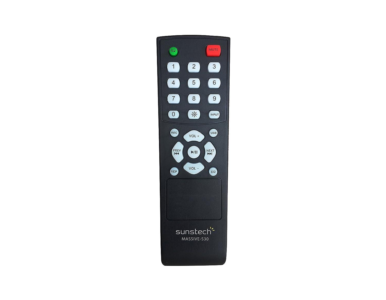 Bluetooth, 2 micr/ófonos, FM, USB, 40 W RMS Torre est/éreo Sunstech STBTK150BK color negro