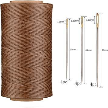 4pcs 260 Meter 0.8mm 150D Flat Leather Waxed Thread Cord Craft with 1 Set...