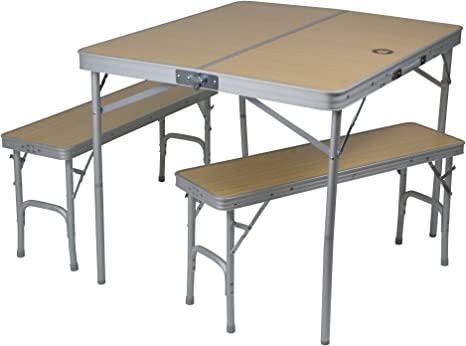 10T Portable Bench Mesa de Camping, Unisex, Plateado, Estándar ...