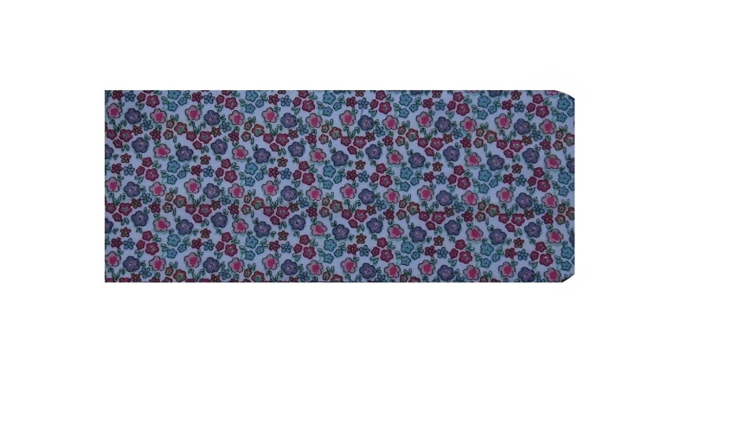 Miss Pretty London Ditsy Flowers Print Chequebook Wallet - Cotton Finish