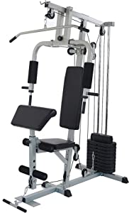 Sporzon! Home Gym System Workout Station with 330LB of Resistance, 125LB Weight Stack