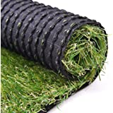 Artificial Turf Lawn Fake Grass Indoor Outdoor Landscape Premium Synthetic Grass Rubber Backed with Drainage Holes Pet Dog Area
