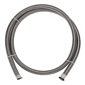 Stainless Braided Pipe Oil /& Fuel Coolant Hose AN-6 AN6 8mm 5//16/'/' 1M