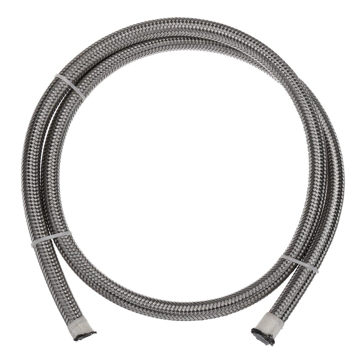 QOJA teflon stainless braided hose tube pipe line black for petrol