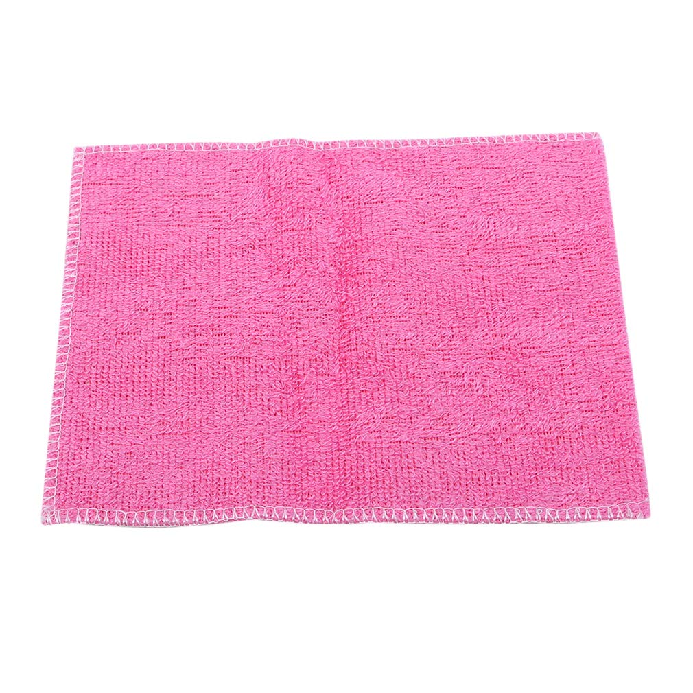 GUAngqi Microfibre Dish Cloths Soft Kitchen Wash Cloth for Washing Dishes Rags Cleaning Cloth,Pink