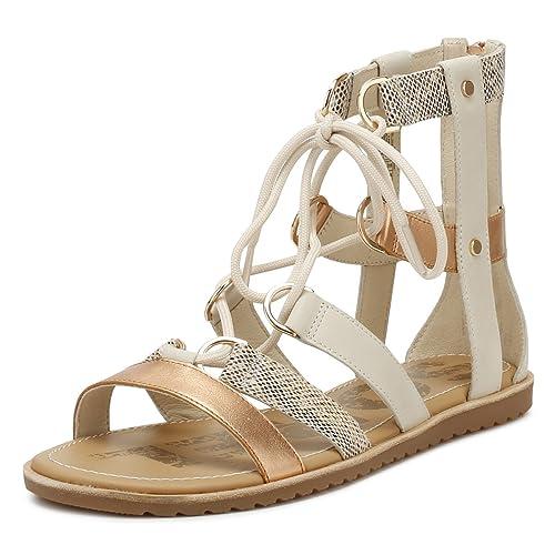 ca3f43deac5 Sorel Women s Ella Lace Up Gladiator Sandals  Amazon.co.uk  Shoes   Bags