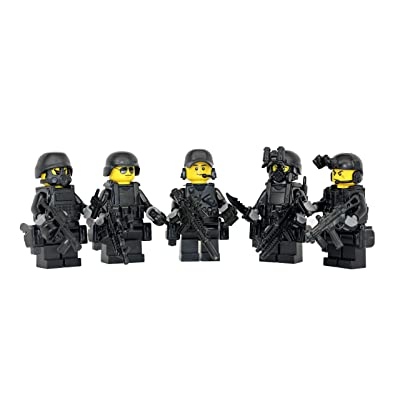 Modern Brick Warfare Special Forces Squad US Military Soldiers Custom Minifigure: Toys & Games