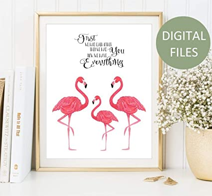 image regarding Flamingo Printable identify : lagificom Flamingo Family members Wall Artwork Printable