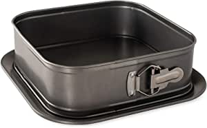Nordic Ware 51005 Square Springform Pan, 18 Cup Capacity, Charcoal