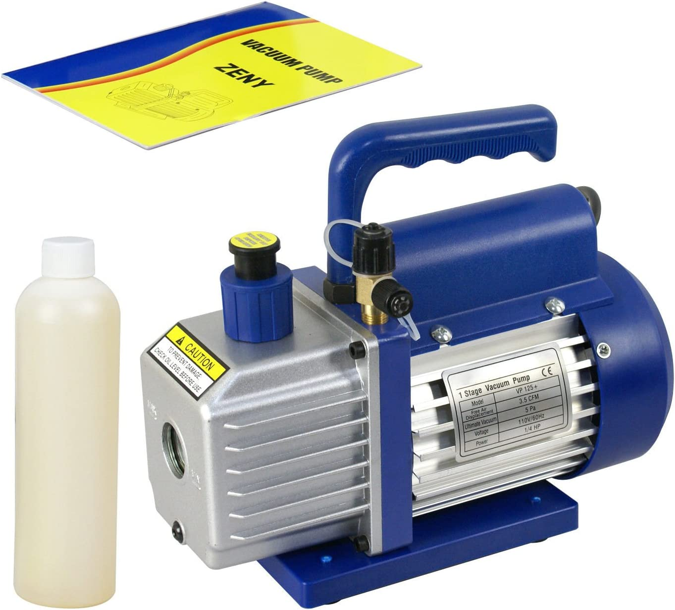 9TRADING 3.5CFM 1/4HP Rotary Vane Deep Vacuum Pump HVAC AC Air Tool R410a R134 W/Free Oil, Free Tax, Delivered within 10 days